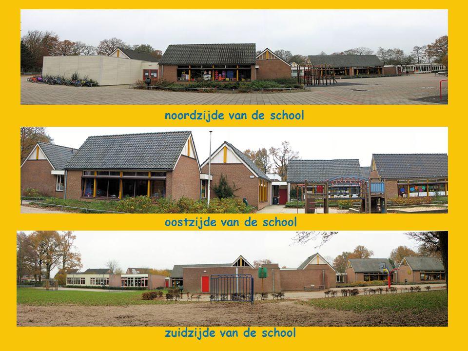 oostzijde van de school zuidzijde van de school noordzijde van de school