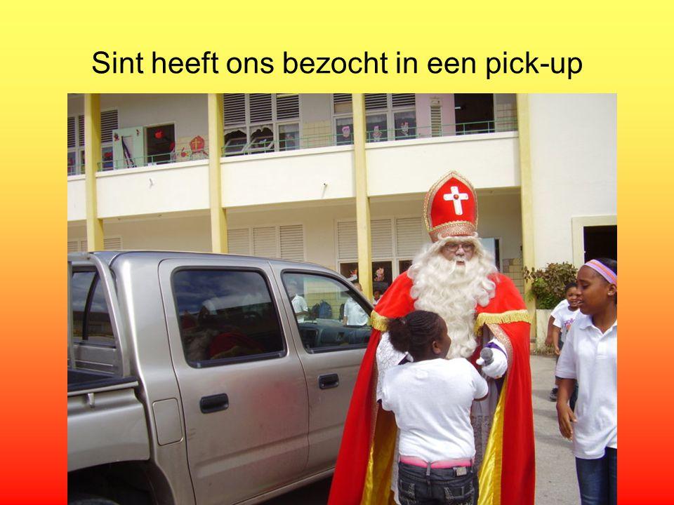 Sint heeft ons bezocht in een pick-up