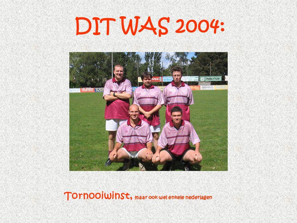 DIT WAS 2004: Tornooiwinst, maar ook wel enkele nederlagen
