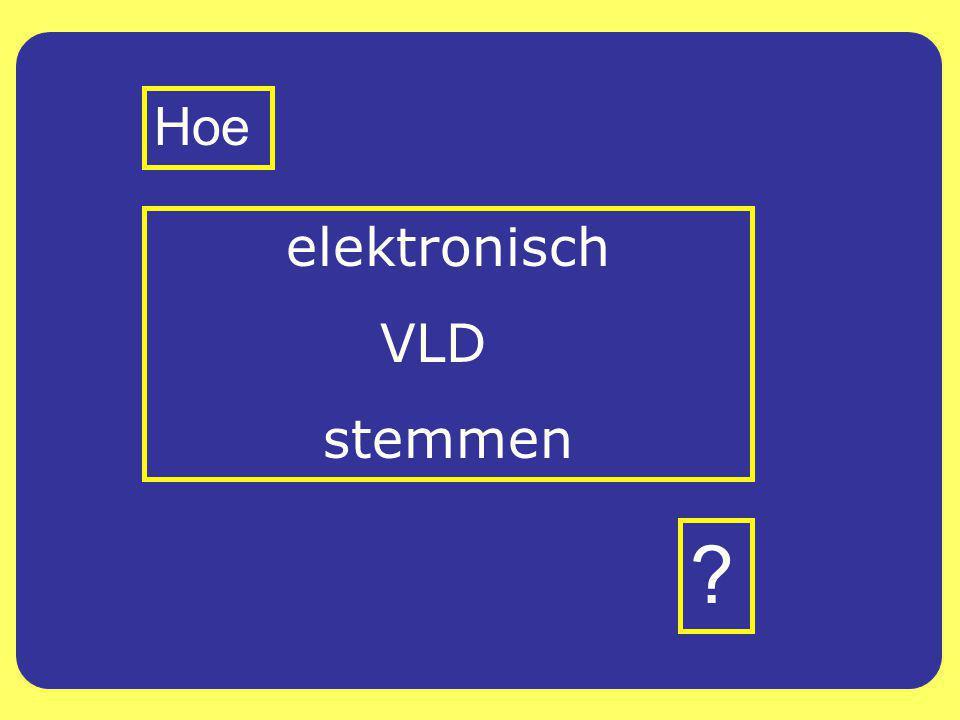 elektronisch VLD stemmen Hoe ?