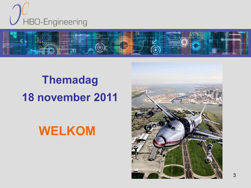3 Themadag 18 november 2011 WELKOM