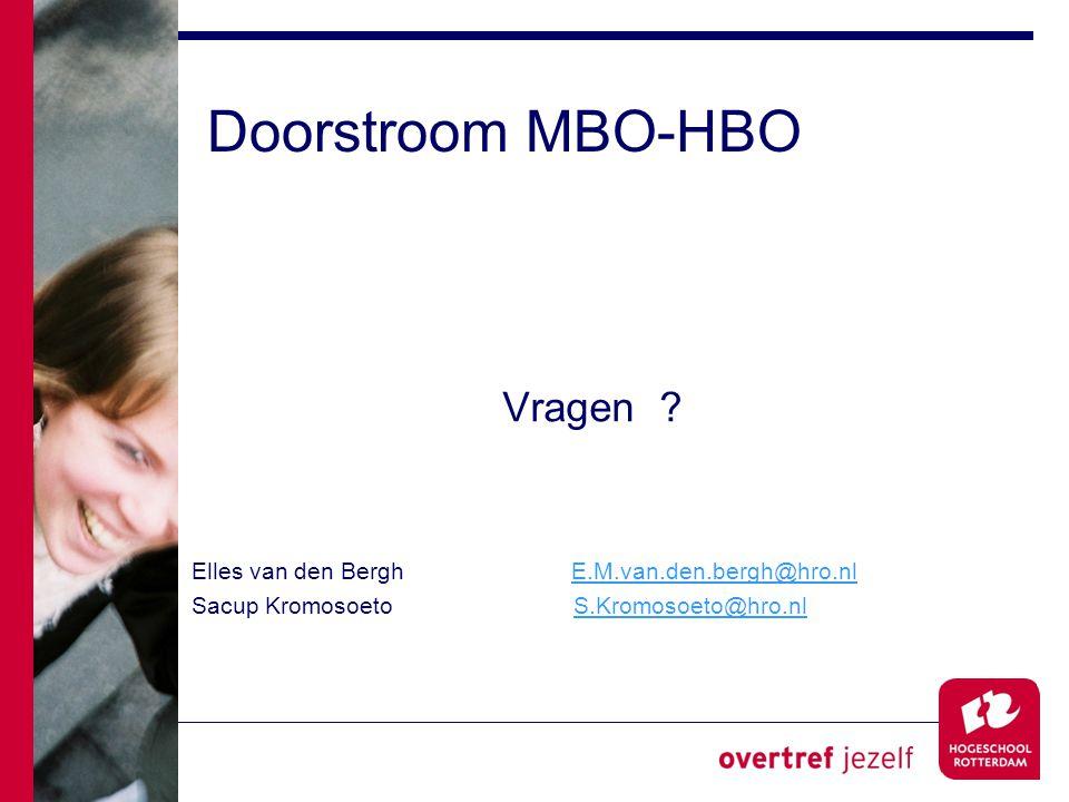 Doorstroom MBO-HBO Vragen .