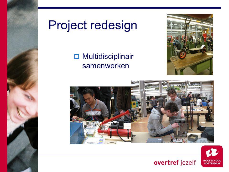 Project redesign  Multidisciplinair samenwerken