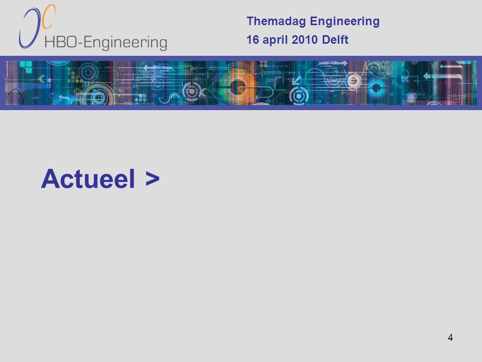 4 Themadag Engineering 16 april 2010 Delft Actueel >
