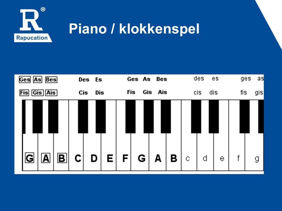 Piano / klokkenspel