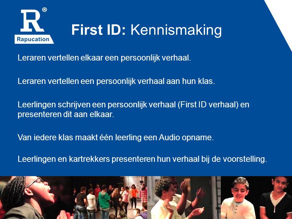 First ID: Kennismaking Leraren vertellen elkaar een persoonlijk verhaal.