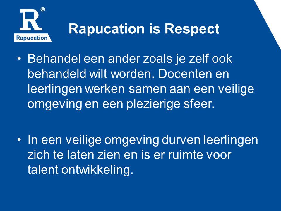 Rapucation is Respect Behandel een ander zoals je zelf ook behandeld wilt worden.