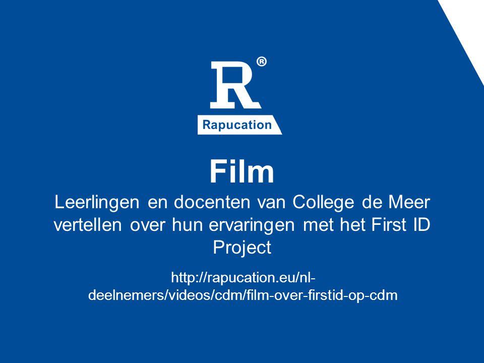 Film Leerlingen en docenten van College de Meer vertellen over hun ervaringen met het First ID Project http://rapucation.eu/nl- deelnemers/videos/cdm/film-over-firstid-op-cdm