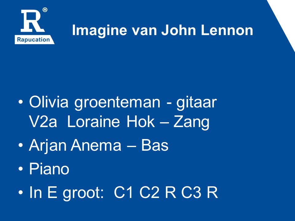 Imagine van John Lennon Olivia groenteman - gitaar V2a Loraine Hok – Zang Arjan Anema – Bas Piano In E groot: C1 C2 R C3 R