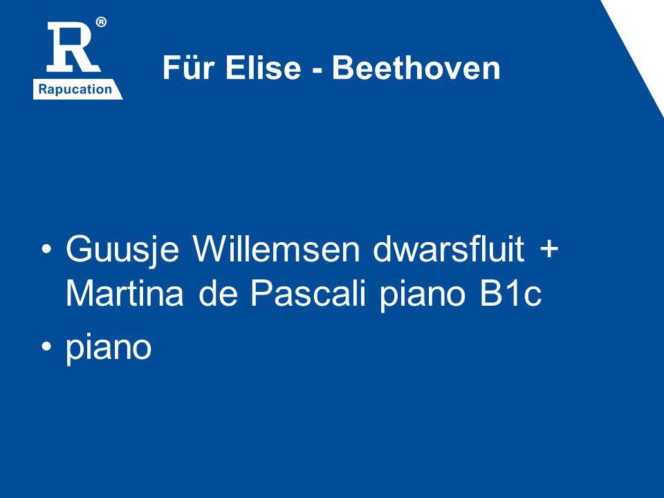 Für Elise - Beethoven Guusje Willemsen dwarsfluit + Martina de Pascali piano B1c piano