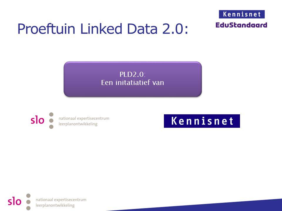 Proeftuin Linked Data 2.0: PLD2.0: Een initatiatief van PLD2.0: Een initatiatief van