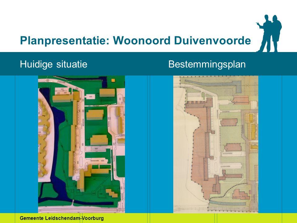 Gemeente Leidschendam-Voorburg Planpresentatie: Woonoord Duivenvoorde Huidige situatie Huidige situatieBestemmingsplan