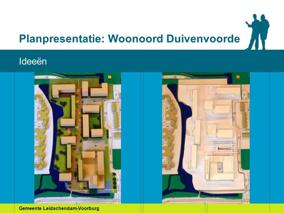 Gemeente Leidschendam-Voorburg Planpresentatie: Woonoord Duivenvoorde Huidige situatie Ideeën