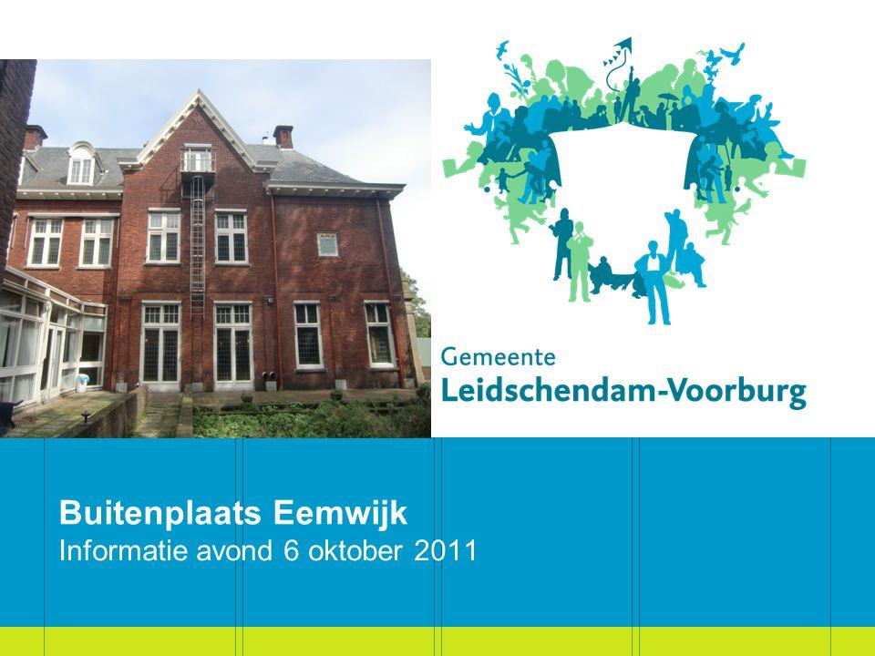 Buitenplaats Eemwijk Informatie avond 6 oktober 2011