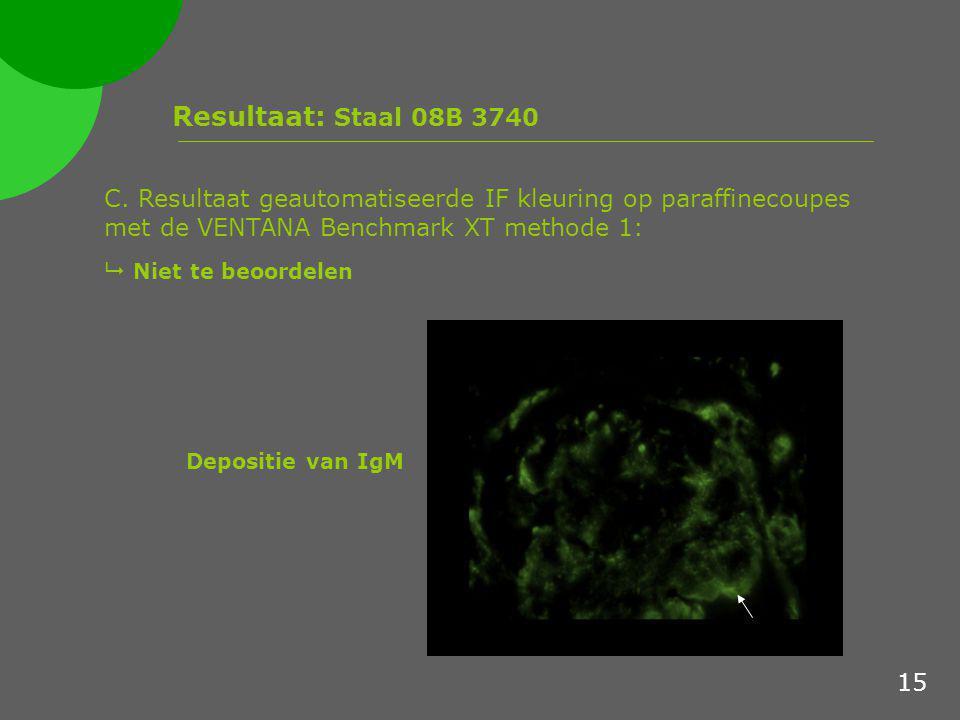 Resultaat: Staal 08B 3740 C.