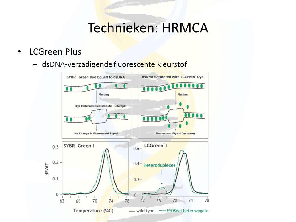 Technieken: HRMCA LCGreen Plus – dsDNA-verzadigende fluorescente kleurstof