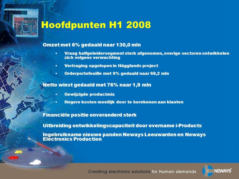 Kerncijfers H1 2008 WPA is berekend op basis van het aantal uitstaande aandelen per ultimo periode