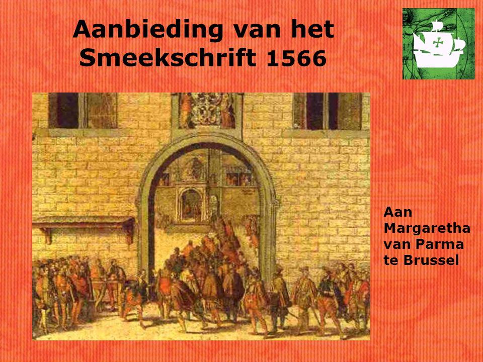Aanbieding van het Smeekschrift 1566 Aan Margaretha van Parma te Brussel
