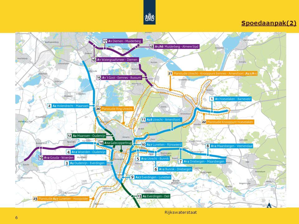 Rijkswaterstaat 17 Aanpak van de werkzaamheden Patricia Hol, omgevingsmanager A27/A28 GOVER 1.Waarom nu aan de slag.