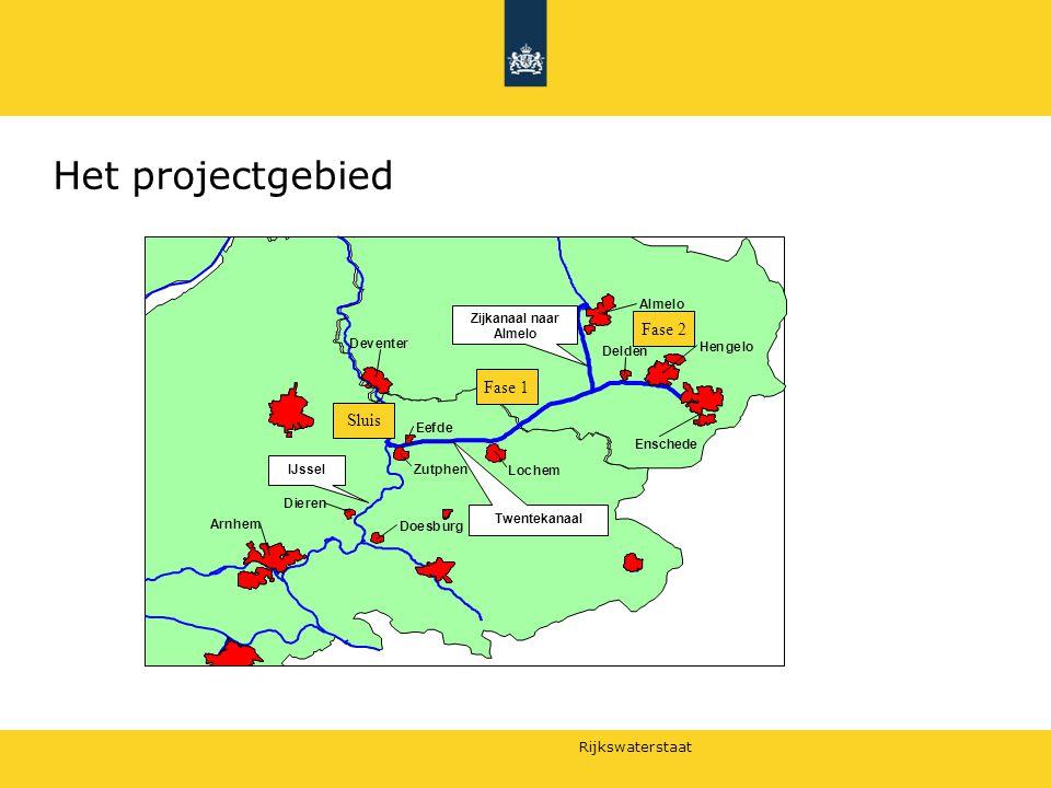 Rijkswaterstaat Het projectgebied Sluis Fase 2 Fase 1