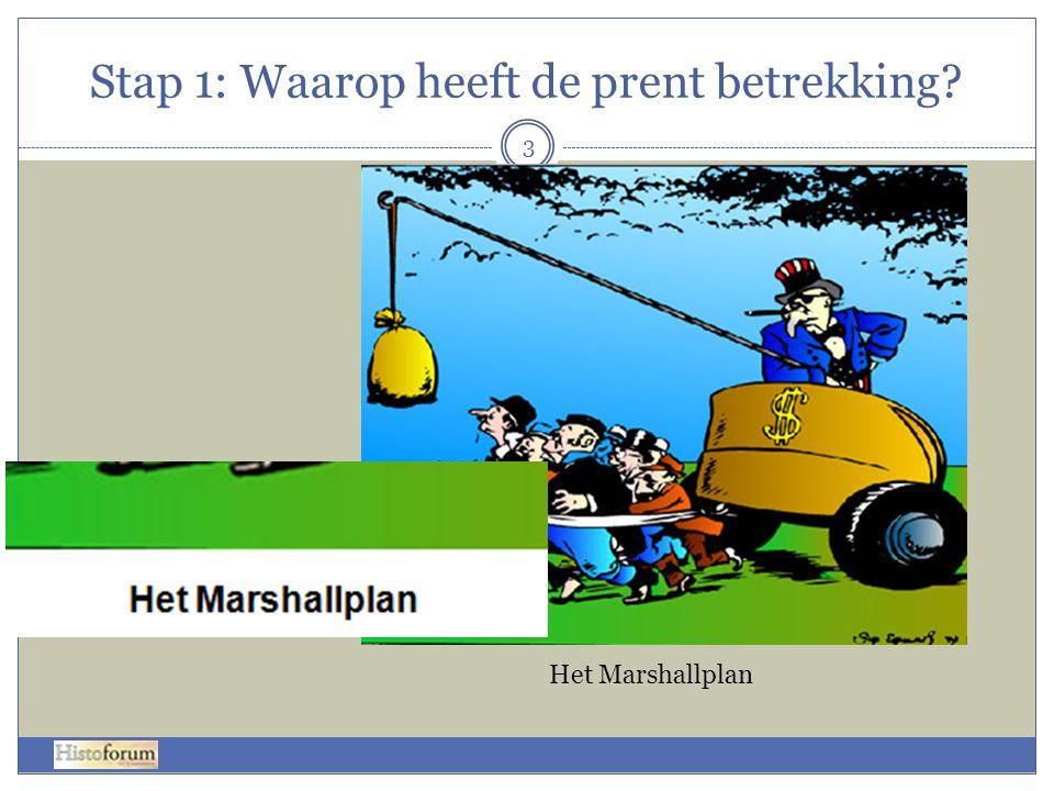 Stap 1: Waarop heeft de prent betrekking? Het Marshallplan 3