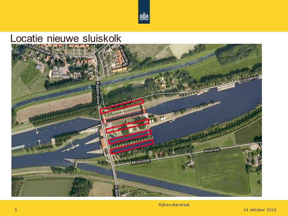 Rijkswaterstaat 514 oktober 2010 Locatie nieuwe sluiskolk