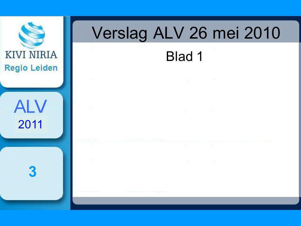 Verslag ALV 26 mei 2010 Blad 1 3 2011