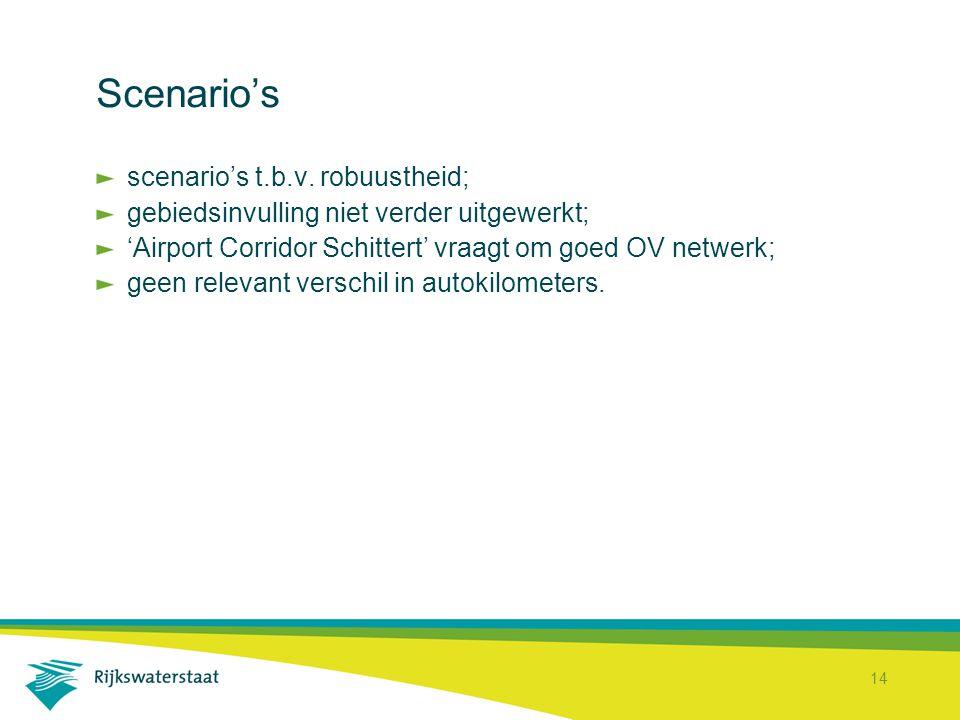 14 Scenario's scenario's t.b.v.