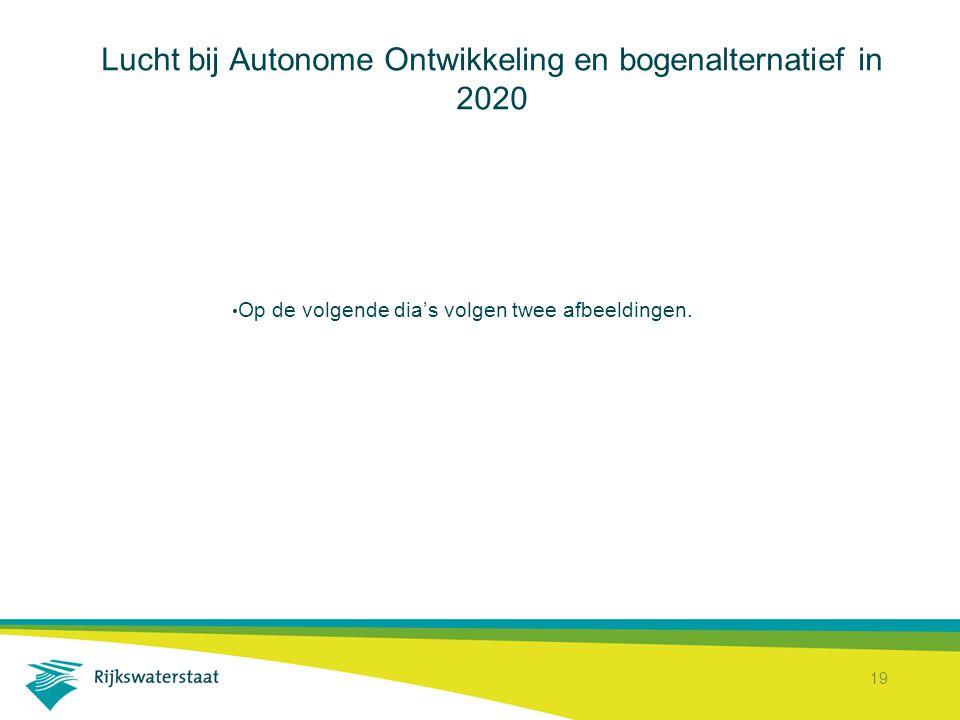 19 Lucht bij Autonome Ontwikkeling en bogenalternatief in 2020 Op de volgende dia's volgen twee afbeeldingen.