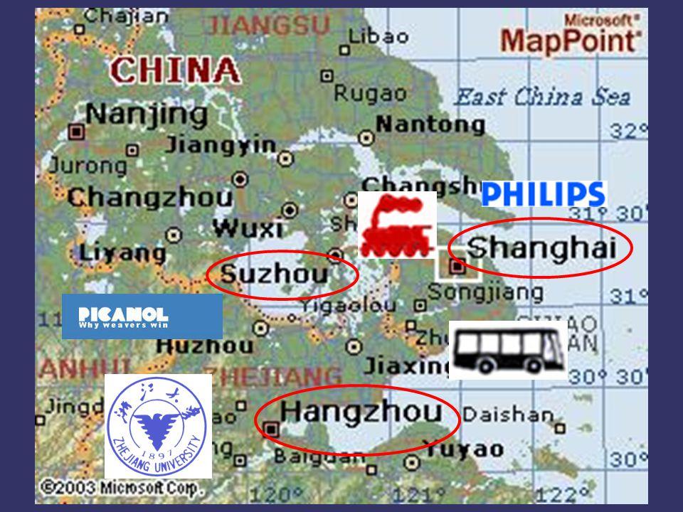 行州 (Hangzhou) 三天 (3 dagen) Ma 28 行州 ZUT Zhejiang University of Technology 浙 江 大学 浙 江 大学 Di29 行州 Woe30 行州 - 北京 (Bei jing)