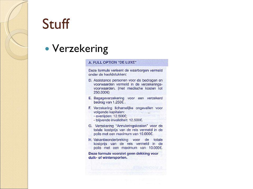 Stuff Verzekering