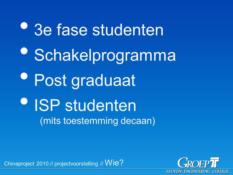 Chinaproject 2010 // Praktisch // Begeleiding Docentenbegeleid er