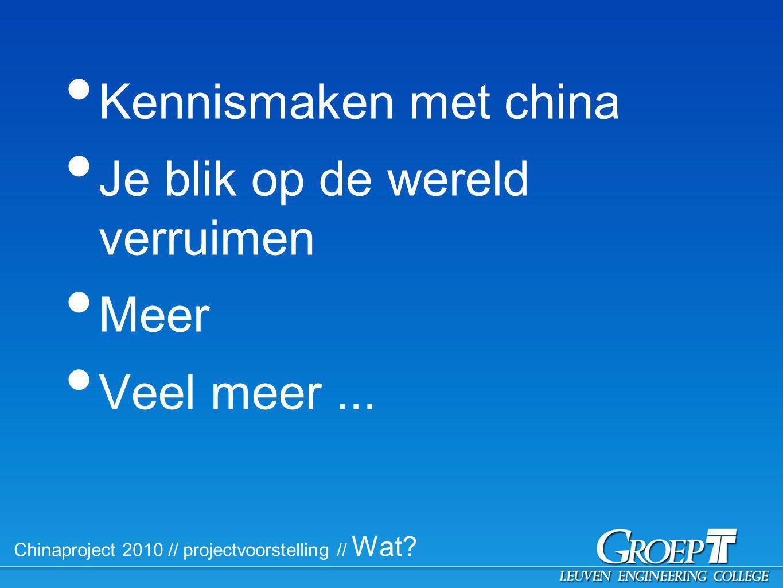 Chinaproject 2010 // Praktisch // Begeleiding // Docenten