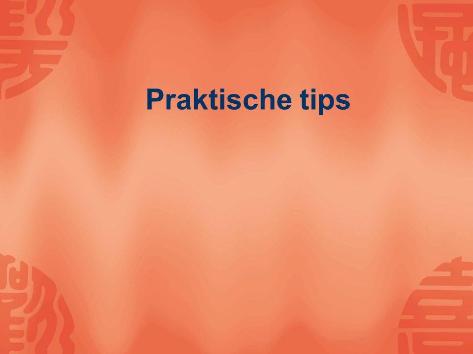 Praktische tips