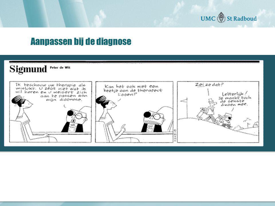 """Onderzoekscentrum maatschappelijke zorg """"gedreven door kennis, bewogen door mensen"""" Aanpassen bij de diagnose"""