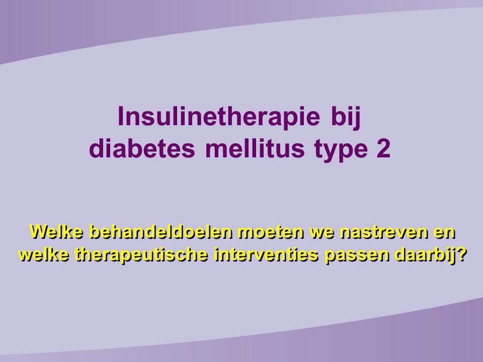 Insulinetherapie bij diabetes mellitus type 2 Welke behandeldoelen moeten we nastreven en welke therapeutische interventies passen daarbij?