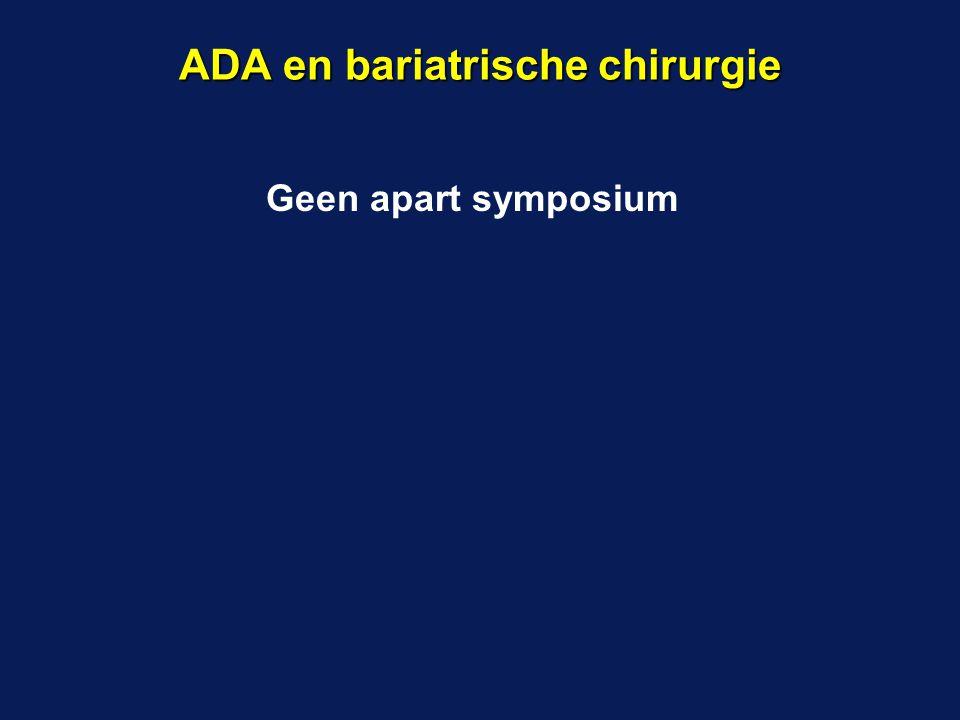 Geen apart symposium ADA en bariatrische chirurgie