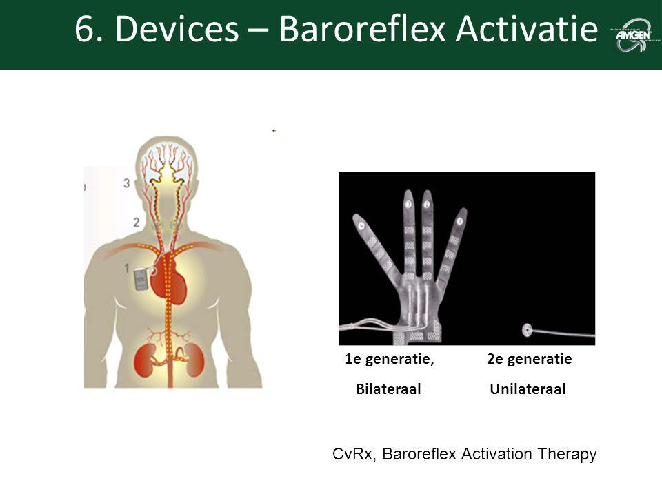 6. Devices – Baroreflex Activatie 1e generatie, 2e generatie Bilateraal Unilateraal CvRx, Baroreflex Activation Therapy