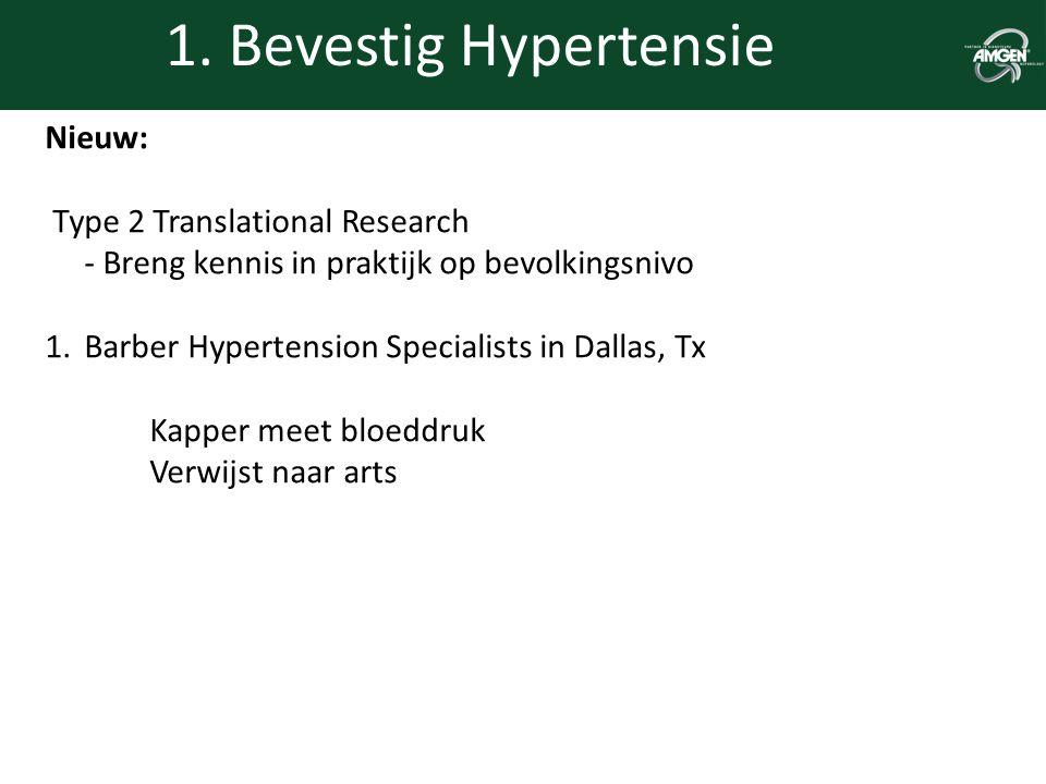 1. Bevestig Hypertensie Nieuw: Type 2 Translational Research - Breng kennis in praktijk op bevolkingsnivo 1.Barber Hypertension Specialists in Dallas,
