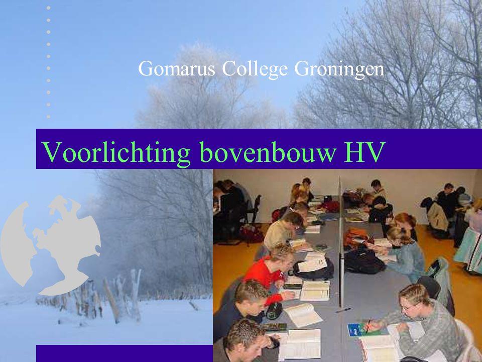 Voorlichting bovenbouw HV Gomarus College Groningen