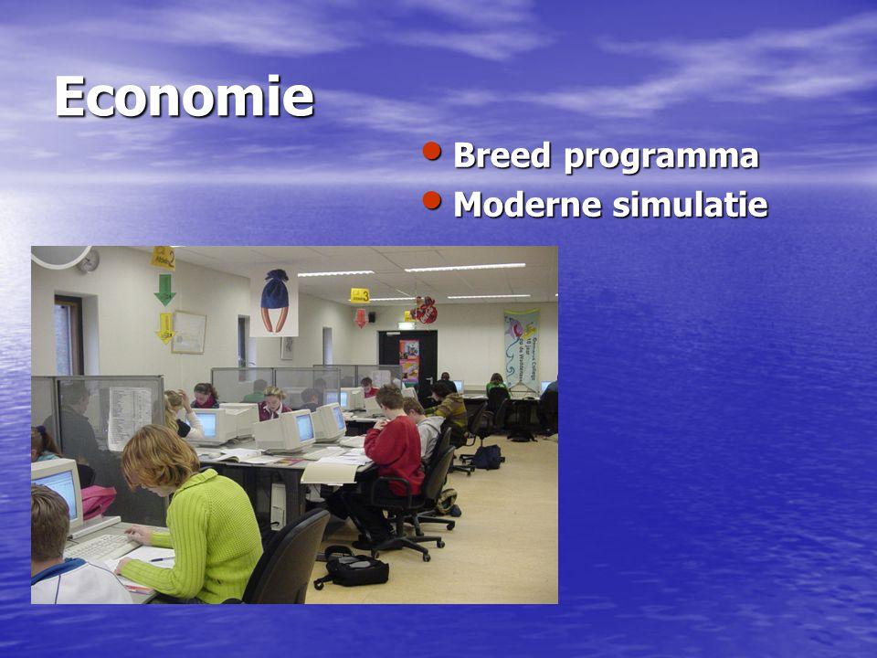 Economie Breed programma Breed programma Moderne simulatie Moderne simulatie