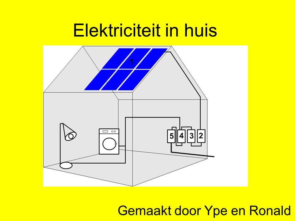 Elektriciteit in huis Gemaakt door Ype en Ronald