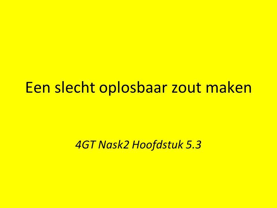 Een slecht oplosbaar zout maken 4GT Nask2 Hoofdstuk 5.3