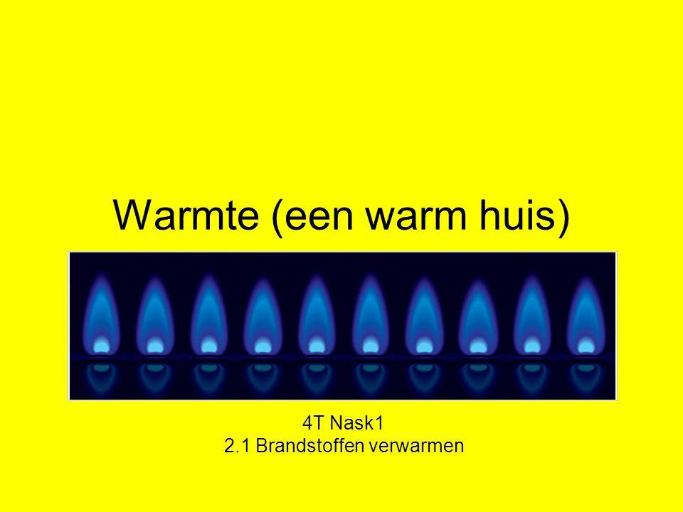 Warmte (een warm huis) 4T Nask1 2.1 Brandstoffen verwarmen