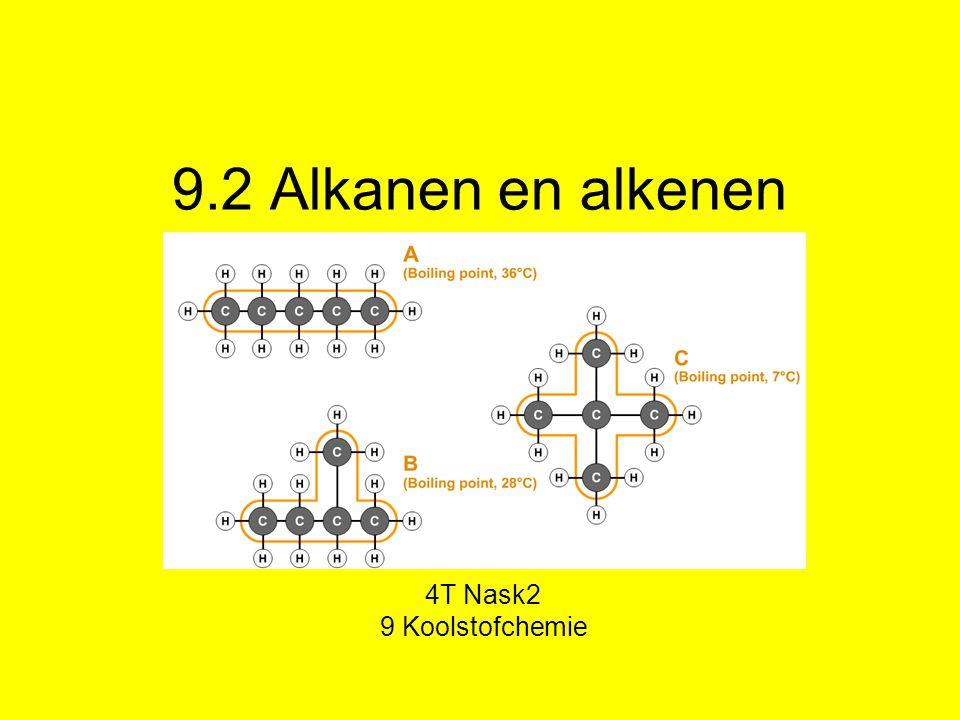 9.2 Alkanen en alkenen 4T Nask2 9 Koolstofchemie