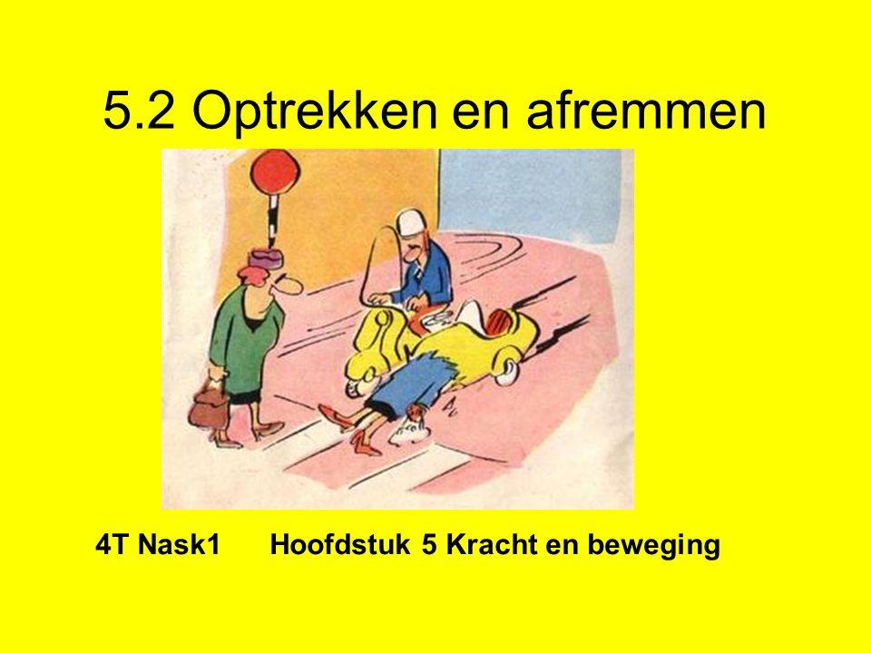 5.2 Optrekken en afremmen 4T Nask1 Hoofdstuk 5 Kracht en beweging