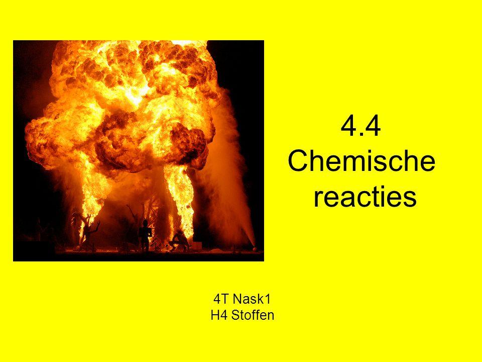 Chemische reacties Chemische reacties kunnen gewenst en ongewenst zijn.