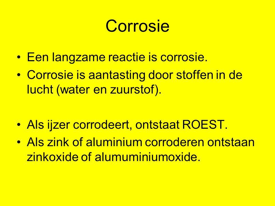Bescherming tegen corrosie Ijzer moet je beschermen tegen roesten.