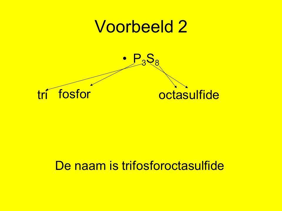 Formule samenstellen van moleculaire stoffen 1.schrijf de symbolen van de atomen op.