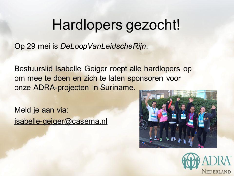 Hardlopers gezocht. Op 29 mei is DeLoopVanLeidscheRijn.